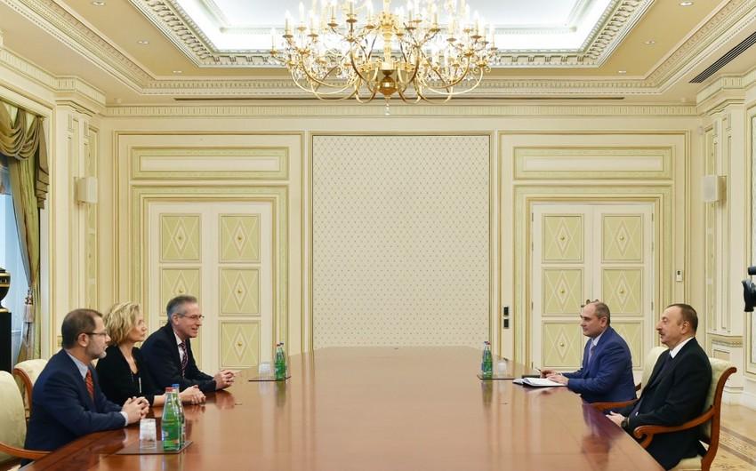 Президент Ильхам Алиев принял руководителей статистических структур Германии и Болгарии