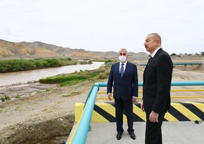 Ilham Aliyev views construction of Ordubad Hydroelectric Power Plant