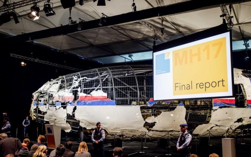 Niderland Təhlükəsizlik Şurası: Ukraynada qəzaya uğrayan Boeing Buk ZRK-dan açılan raketlə vurulub