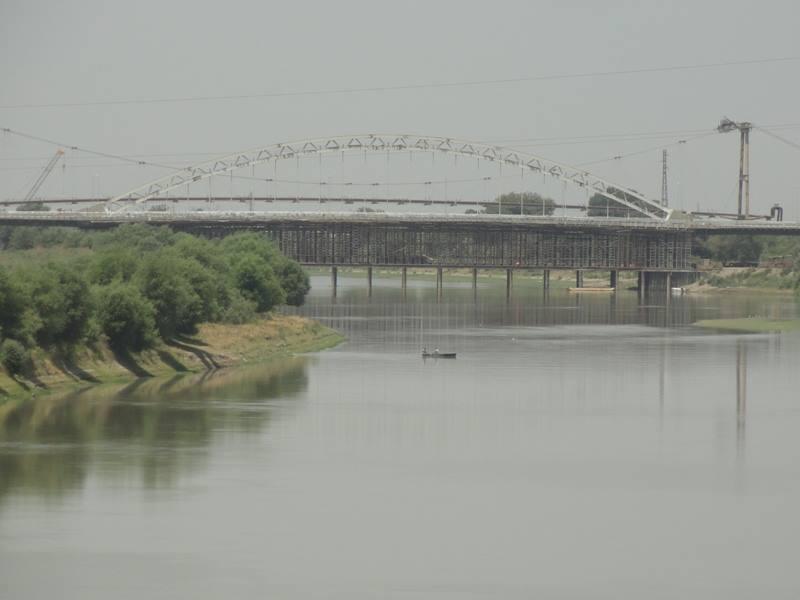 Строительство нового моста над Курой завершается - ФОТО