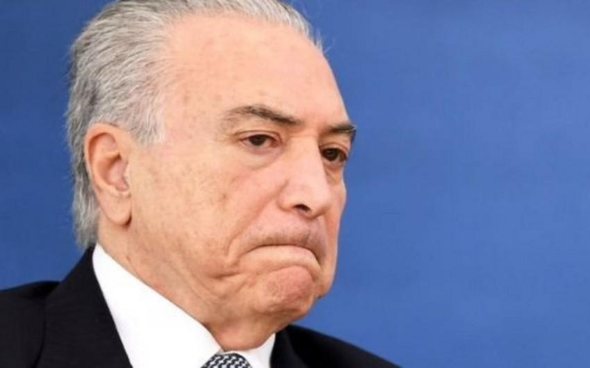 Braziliyanın yeni prezidenti də korrupsiyada ittiham olunur