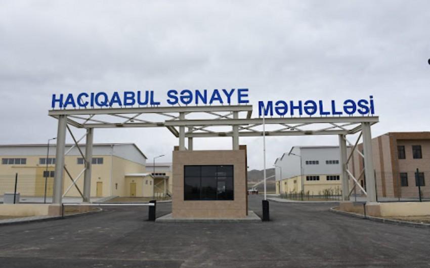Hacıqabul Sənaye Məhəlləsində 10 rezident qeydiyyatdan keçib