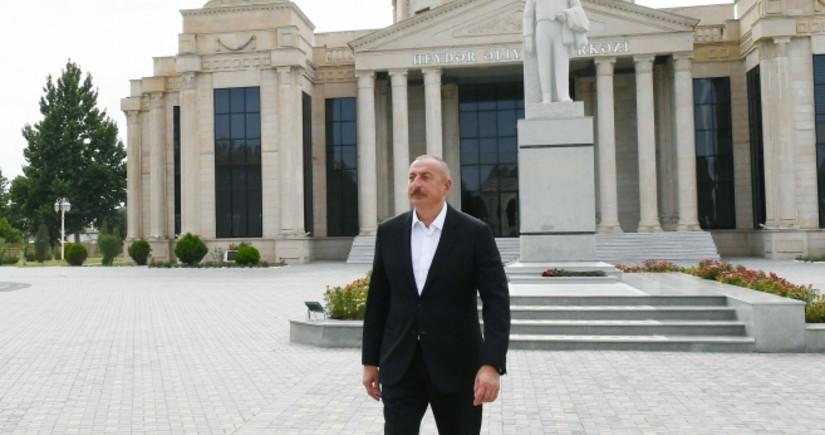 President Ilham Aliyev visits Goranboy