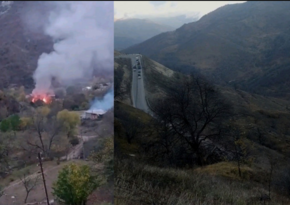 Очередной армянский вандализм: в Кельбаджаре сжигают дома