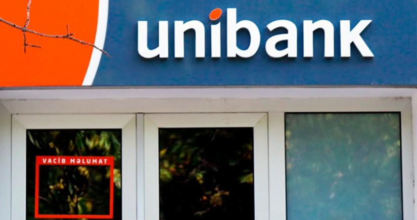 Unibankın mənfəəti 64% azalıb