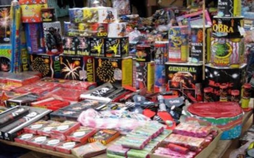 Sumqayıtda partlayıcı oyuncaqlar və pirotexniki məmulatlar satışdan çıxarılıb