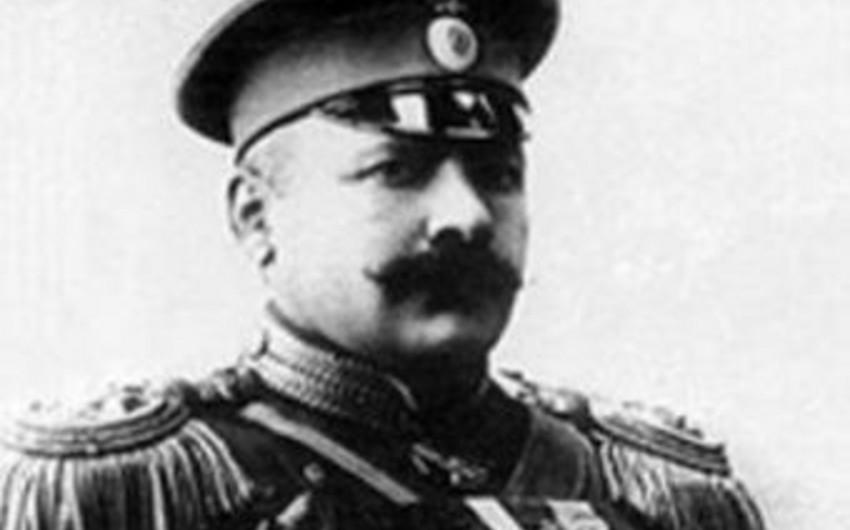 Памятник генералу Гусейн хану Нахчыванскому будет установлен в Санкт-Петербурге