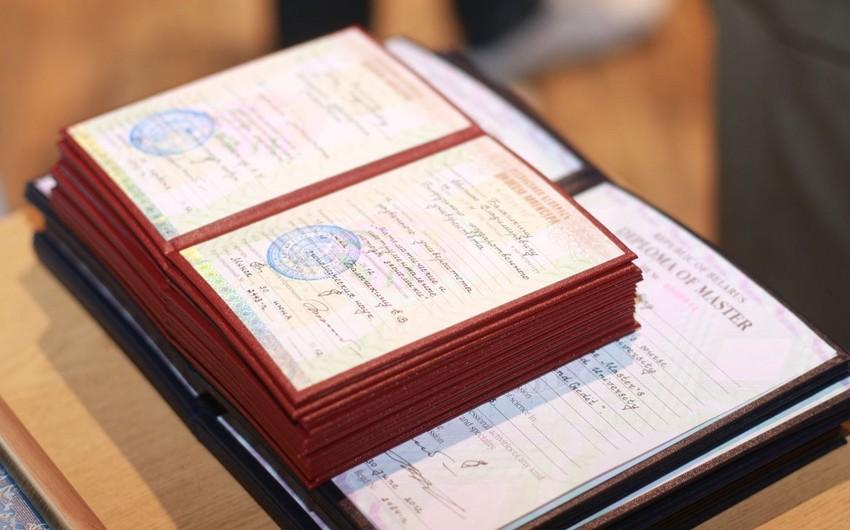 Xaricdə təhsil alan daha 193 nəfərin diplomu tanınıb, 65 nəfərə mənfi cavab verilib
