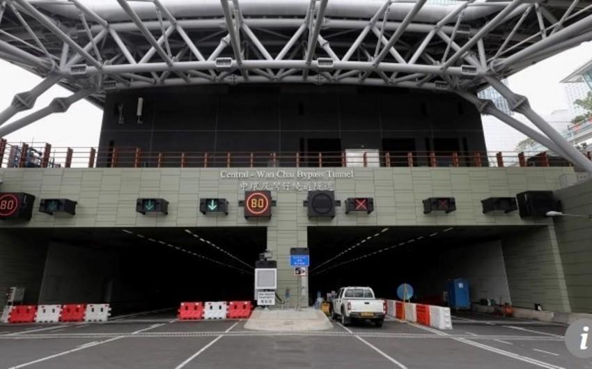 Honkonqda 4,6 mlrd. dollarlıq və 4,5 km-lik yeraltı tunel açılıb - VİDEO