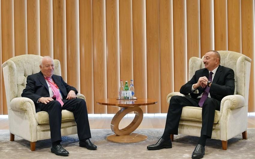 Azərbaycan Prezidenti BMT-nin Sivilizasiyalar Alyansı üzrə Ali nümayəndəsini qəbul edib