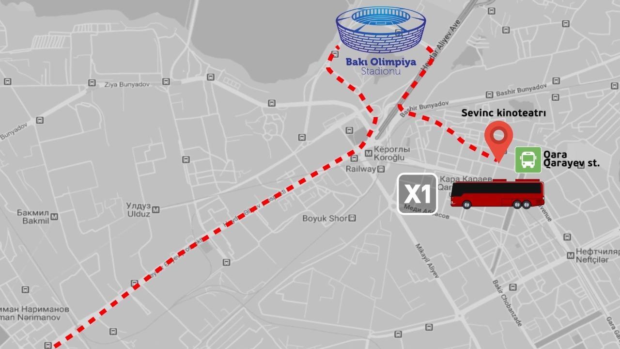 Avro-2020-də avtobuslar hansı küçələrdə və saatlarda hərəkət edəcək - SİYAHI