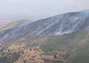 В направлении поселка Гадрутначался пожар