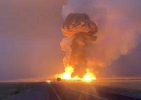 Еще один взрыв зафиксирован на месте склада в воинской части в Казахстане