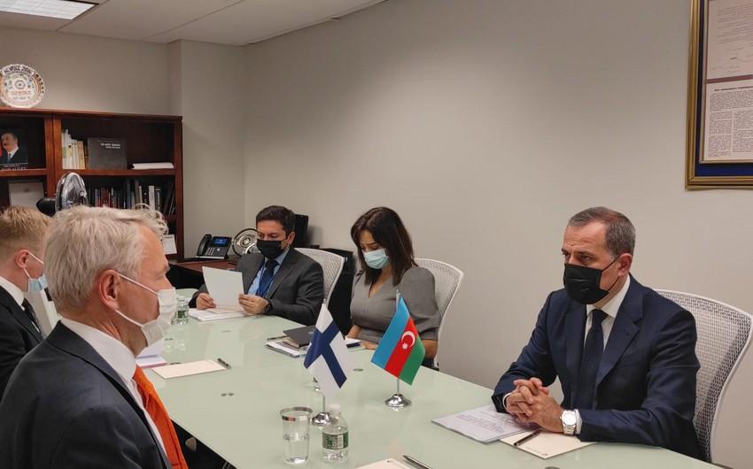 Azərbaycan və Finlandiya XİN başçıları arasında görüş olub