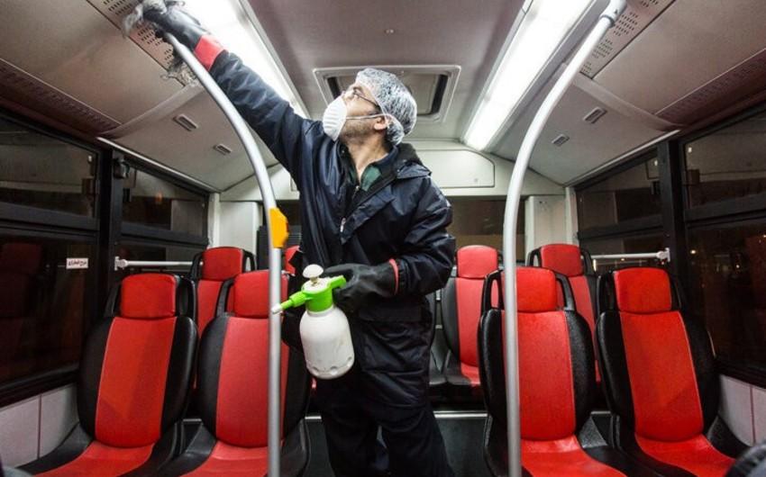 Tehranda koronavirusa qarşı tədbirlər görülür - FOTO
