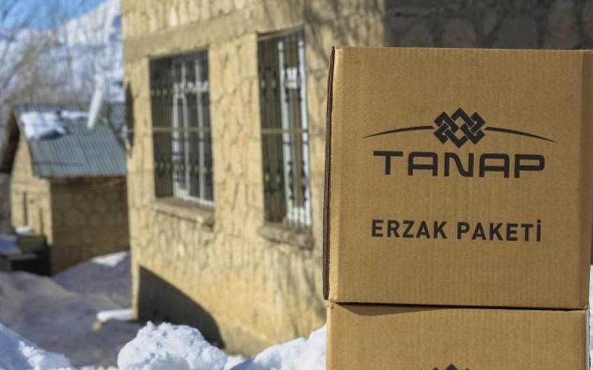 TANAP-ın keçdiyi ərazilərdə 1 000 ailəyə ərzaq yardımı paylanıb