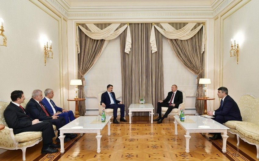 President Ilham Aliyev received delegation led by Turkish minister of agriculture and forestry