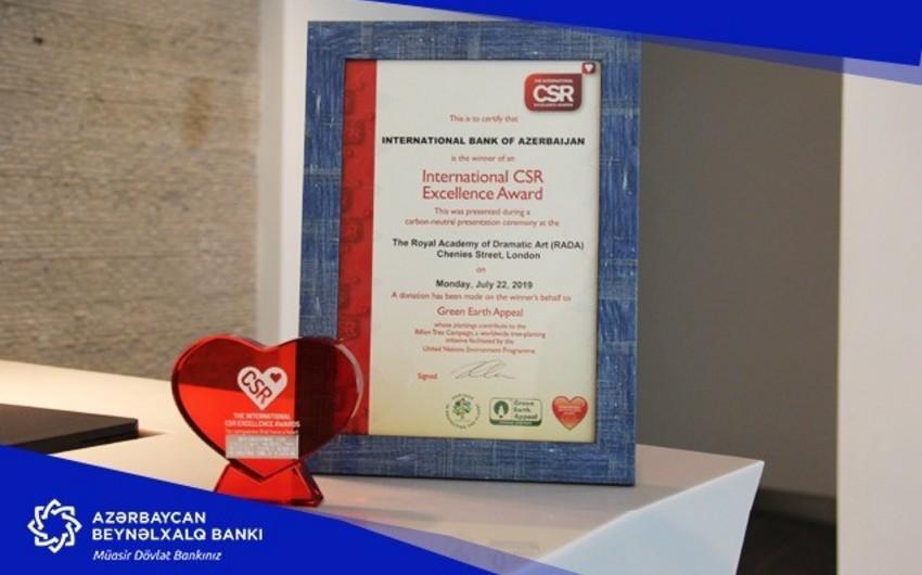 Azərbaycan Beynəlxalq Bankının sosial layihəsi beynəlxalq mükafat qazanıb