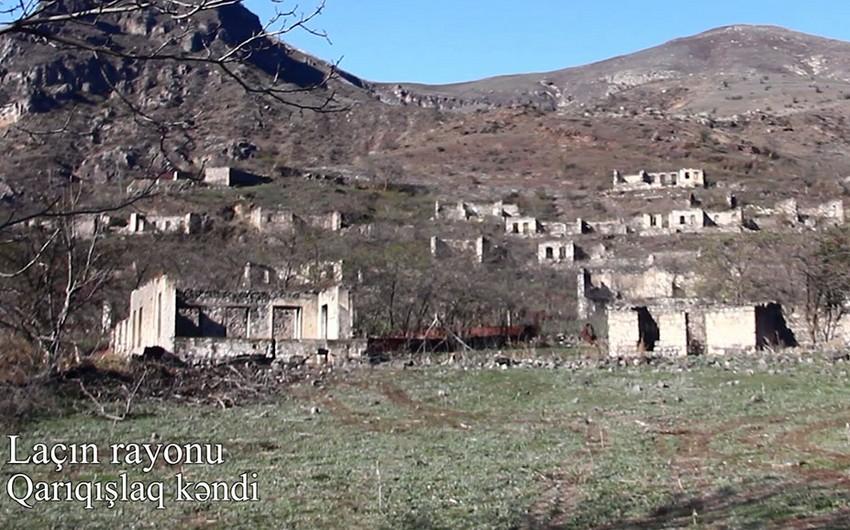 Laçının Qarıqışlaq kəndinin görüntüləri -