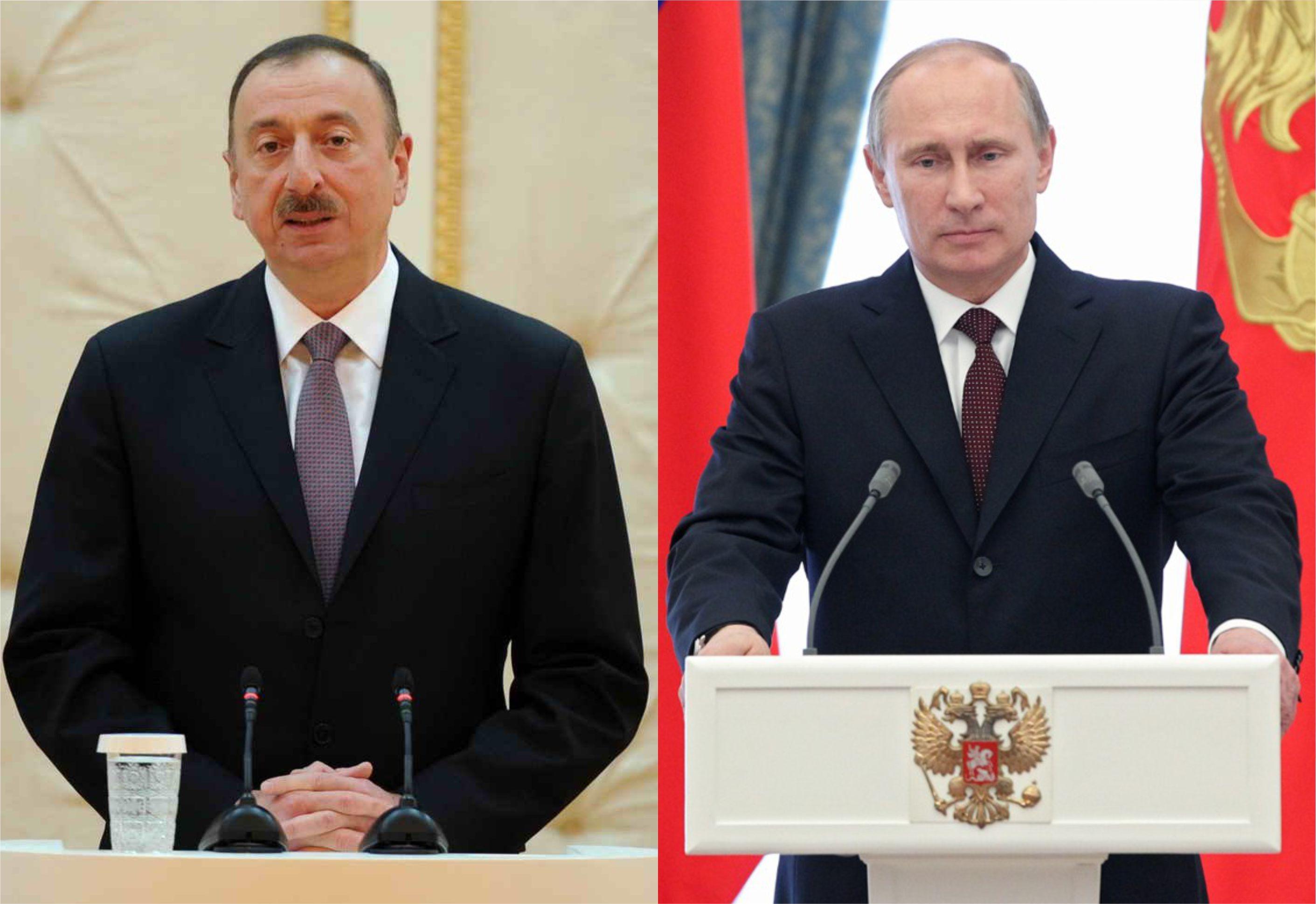 Президент Азербайджана выразил соболезнования Владимиру Путину