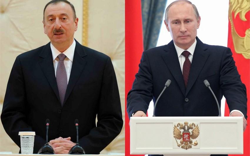 Prezident İlham Əliyev Rusiyanın dövlət başçısına başsağlığı verib