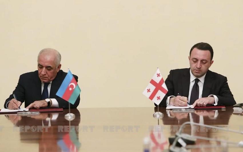 Azərbaycanla Gürcüstan arasında altı sənəd imzalanıb