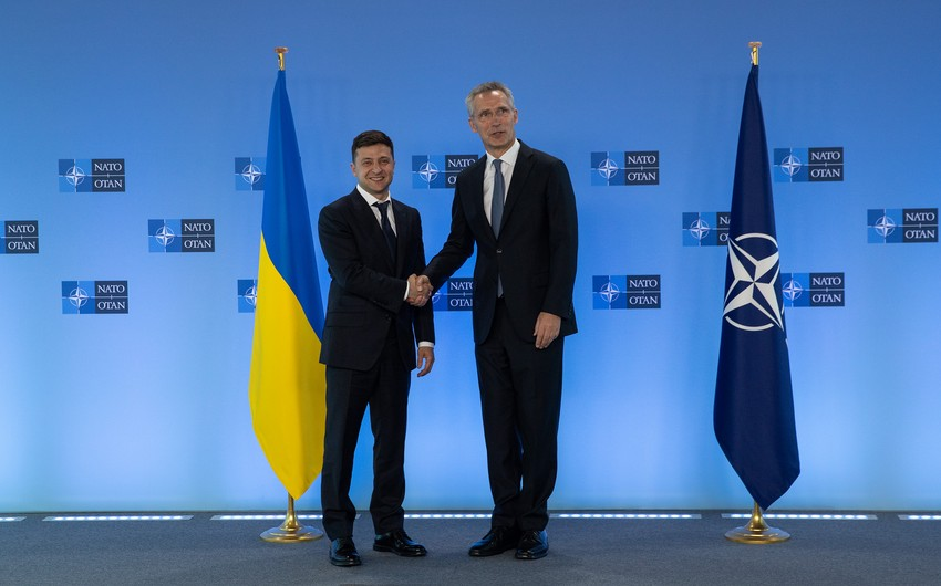 Ukrainian President says NATO membership 'the only way' to end war