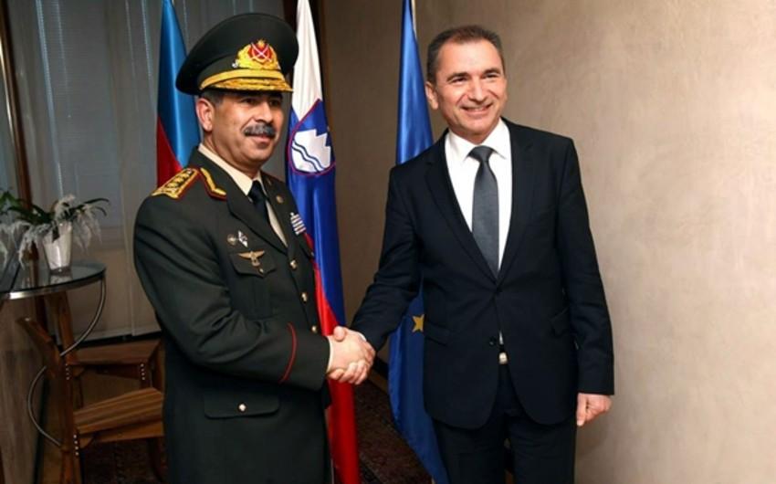 Azerbaijan, Slovenia discuss prospects for military cooperation