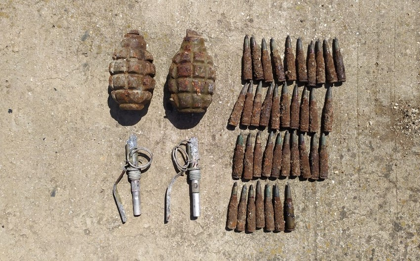 Sumqayıtda əl qumbarası, partladıcılar və patronlar aşkarlandı