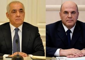 Состоялся телефонный разговор между Али Асадовым и Михаилом Мишустиным
