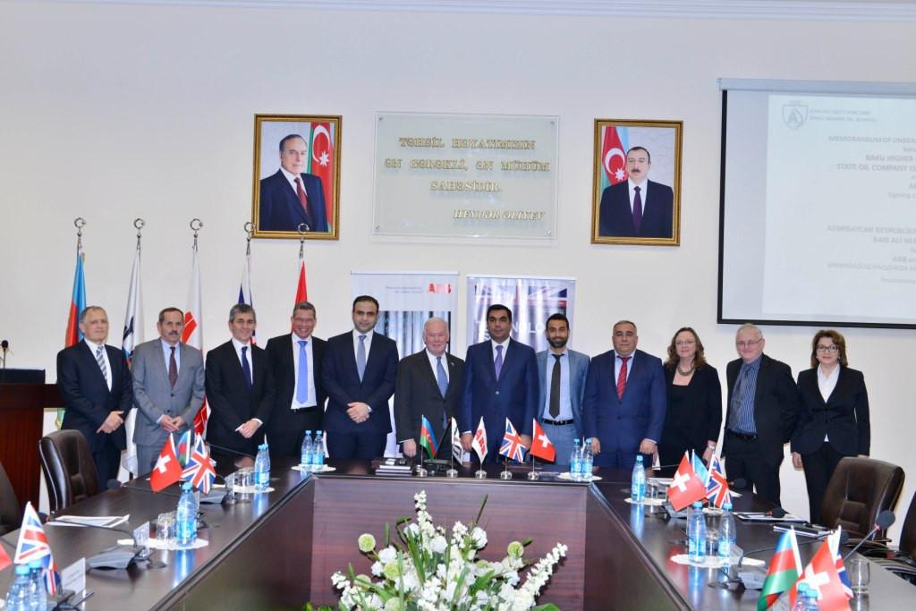 Bakı Ali Neft Məktəbi və ABB şirkəti arasında Əməkdaşlıq Memorandumu imzalanıb