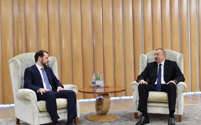 Prezident İlham Əliyevin Türkiyənin energetika və təbii sərvətlər naziri ilə görüşü olub