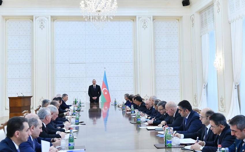Состоялось заседание Кабинета Министров под председательством президента Азербайджана