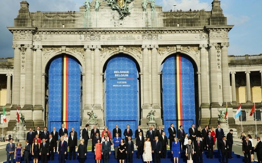 Azərbaycan Prezidenti Brüsseldə NATO ölkələrinin dövlət başçıları üçün qəbulda iştirak edib - FOTO