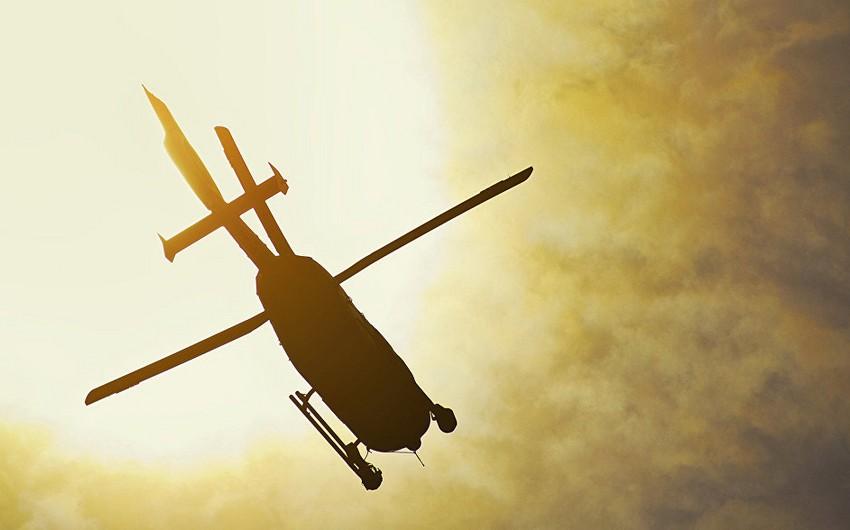 Yunanıstanda helikopter qəzaya uğrayıb, 2 nəfər ölüb, bir nəfər yaralanıb