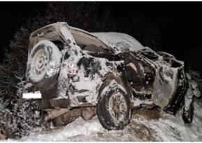 Ermənistanda avtomobil dərəyə aşıb, 3 nəfər ölüb