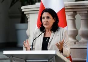 """Salome Zurabişvili: """"Qafqazı bir araya gətirmək üçün yeni yanaşmalara ehtiyac var"""""""