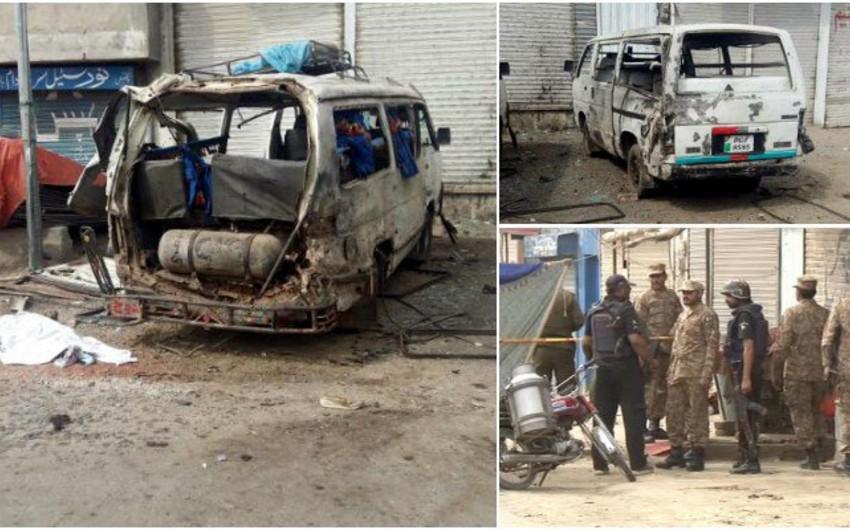 Pakistanda partlayış törədilib, 4-ü hərbçi olmaqla 6 nəfər ölüb, 20 nəfər yaralanıb
