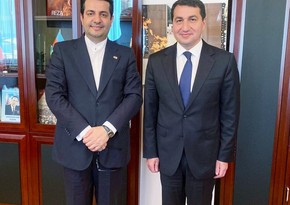 Iranian envoy meets Azerbaijani presidential aide for second time in a week