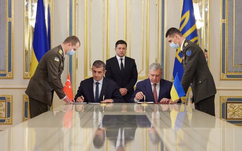Ukrayna və Türkiyə Bayraktar xidmət mərkəzinin inşası ilə bağlı memorandum imzalayıb