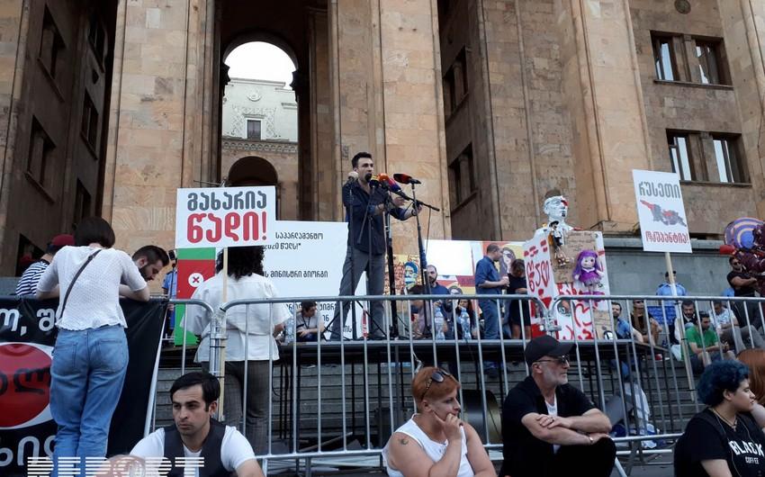 Tbilisidə növbəti etiraz aksiyası keçirilir - FOTO