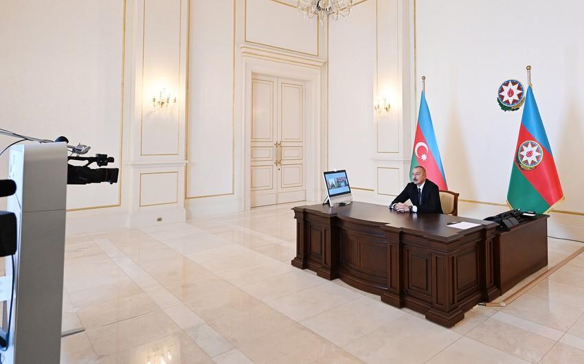 Президент Ильхам Алиев дал интервью телеканалу Euronews