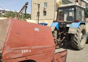 Lənkəranda içkili şəxs traktorla avtoşluq etdi