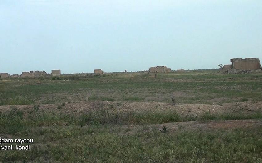 Ağdamın Şirvanlı kəndinin görüntüləri