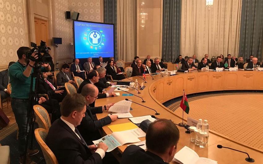 Yaqub Eyyubov Moskvada MDB İqtisadi Şurasının iclasında iştirak edib