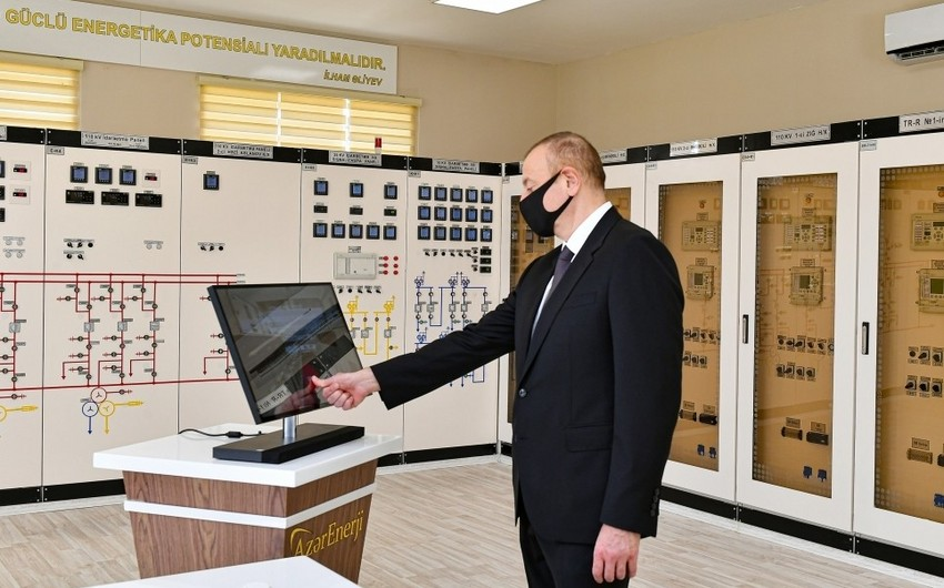 President Ilham Aliyev inaugurates Ahmadli substation