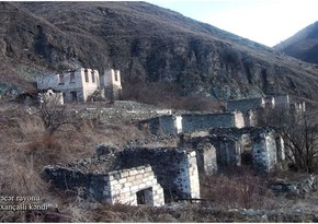 Footage from Kalbajar's Garakhanchalli village destroyed by Armenians