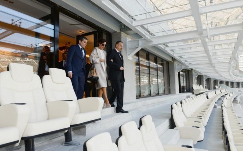 Prezident İlham Əliyev Bakı Olimpiya Stadionunda aparılan işlərin gedişi ilə tanış olub - FOTOLAR