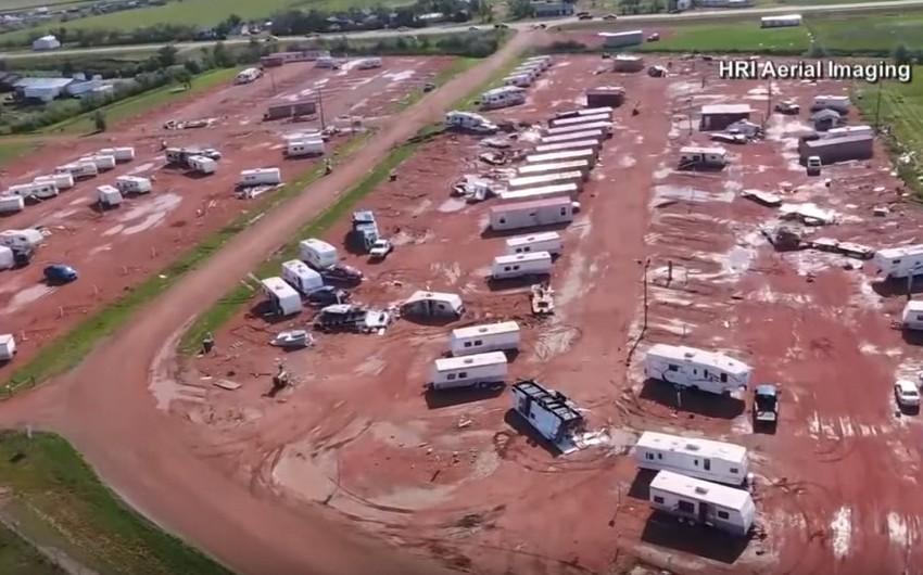 ABŞ-da fırtına nəticəsində 28 nəfər xəsarət alıb - VİDEO
