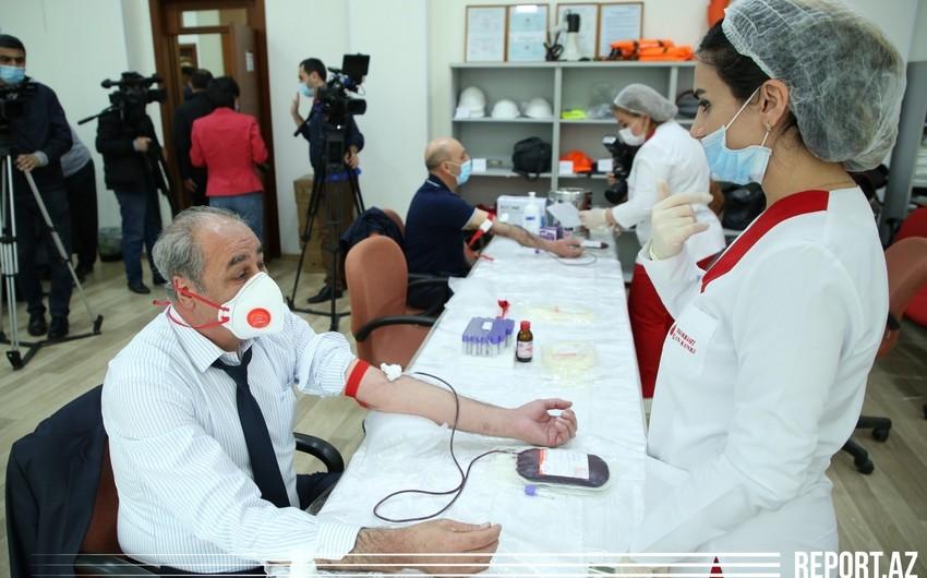 Azərbaycan neftçiləri qanvermə aksiyasına qoşuldular